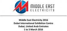 1-3 Mart 2016 - Middle East Electricity DUBAI